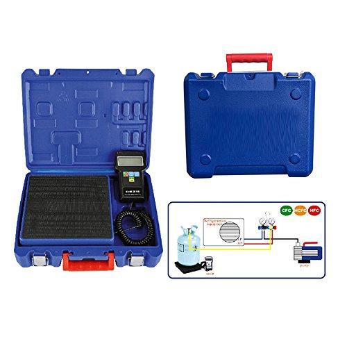 Genmine Digitale elektronische Kältemittelwaage aufladung Skala 220 lbs für HVAC mit Fall (Skala Kältemittel)