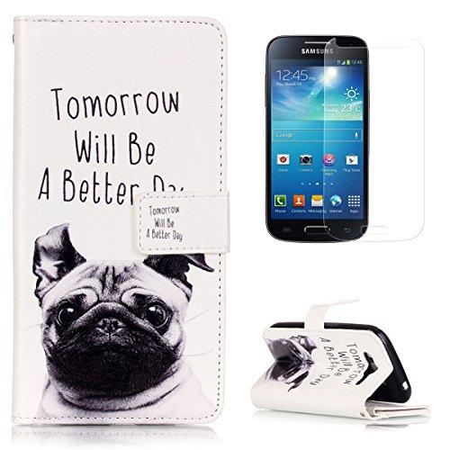 CaseHome Compatible for Samsung Galaxy Grand Neo Plus (I9060) Caso Custodie Portafoglio Stile del Libro del Foglio di Chiusura Magnetica Stand Custodia in Pelle Protettiva Shell-Cucciolo