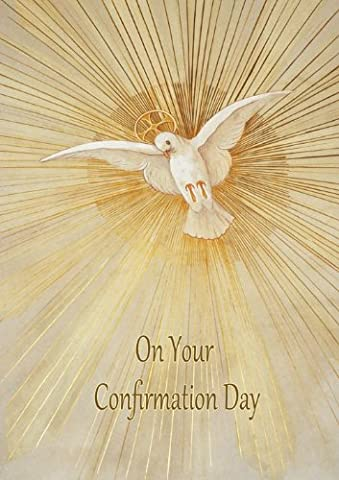 Confirmation Dove - Elegant 'Confirmation' greeting card from Blue Frog
