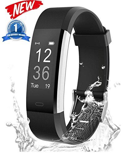 """Heute 15% Rabatt! Fitness Armband, Fitness Tracker, Activity Tracker mit Herzfrequenz, Schrittzähler, GPS Tracker, Wasserdicht, Smart Armband für Android und Ios """"Slykeers"""""""