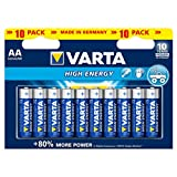 Varta High Energy Batterie AA Mignon Alkaline Batterien LR6 - 10er Pack