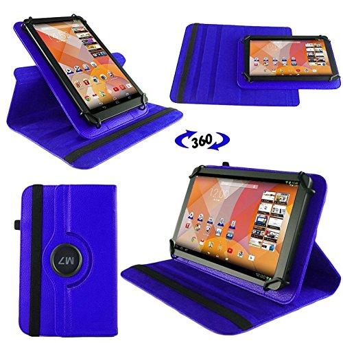 NAUC Tasche Hülle für Blaupunkt Endeavour 101M 101L Tablet Schutzhülle Case Tab Cover, Farben:Blau