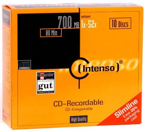 Intenso 700 MB, 52x, Slim Case, 10er Box Silver Circle Audio