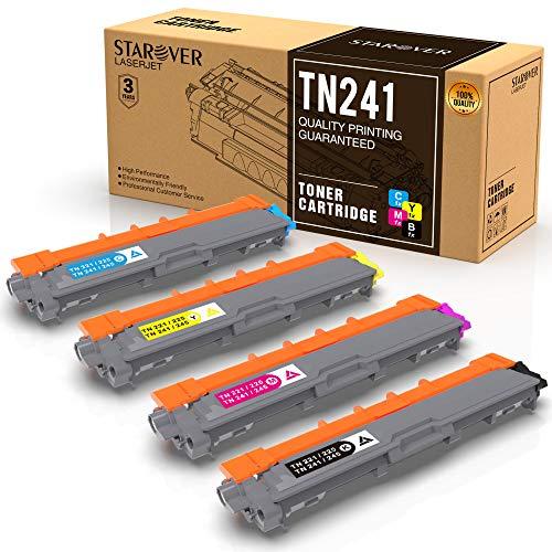 STAROVER 4x TN241 TN-241 TN245 TN-245 Compatibile Toner Per HL-3140CW,HL-3150CDW,HL-3170CDW,DCP-9020CDW, MFC-9140CDN,MFC-9340CDW,MFC-9330CDW,MFC-9130CW,DCP-9015CDW,DCP-9022CDW
