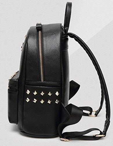 Longzibog Dual Tracolle Regolabili E Appeso Loop 2016 New Girl Backpack Satchel White