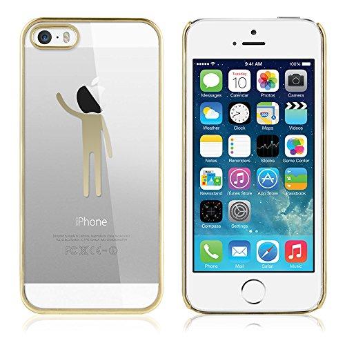 Apple iPhone 5 / 5s Handyhülle / Schutzhülle inkl. Displayschutzfolie im Design : die kleine Fee Gold HangMen Gold