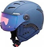 Alpina Erwachsene Jump 2.0 Qvmm Skihelm, Nightblue-Denim Matt, 59-61 cm