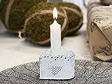 Chic Antique Kerzenständer Leuchter Herz weiß Antik Shabby Kerzenhalter