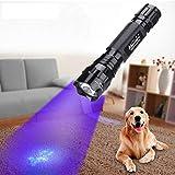 Ultraviolette Taschenlampe 395 Nanometer ultraviolette Taschenlampe Schwarzlicht Färben und Urin Tester Taschenlampe