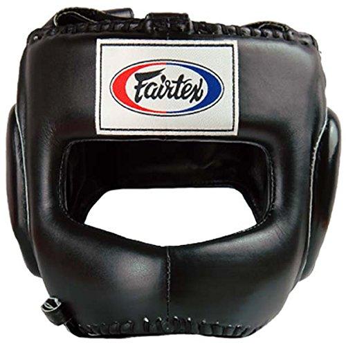 Fairtex Kopfschutz HG4 schwarz Head Guard Protector Muay Thai MMA Thaiboxen