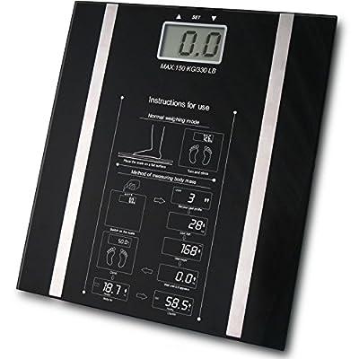 Babz Black Digital BMI Body Fat Scale - 150kg by Babz