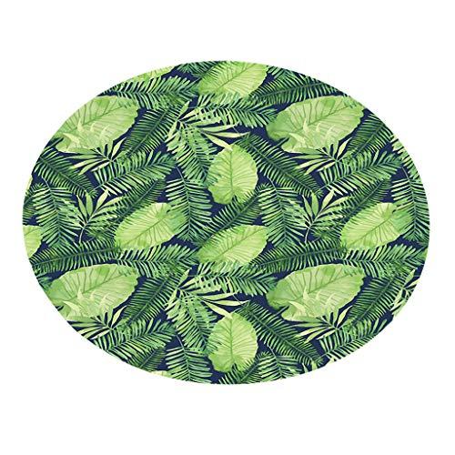 Runder Teppich Serria® 55cm Pflanze Drucken Badteppiche Umweltfreundlich weich wasserabsorbierend feinem Flanell Matte perfekte für Schlafzimmer,Wohnzimmer,Badezimmer,Küche Durchmesser:55 cm C (Herren-badezimmer Teppich)