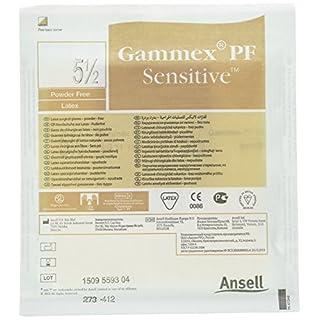 GAMMEX aj353191PF Sensitive Latex Handschuh Gr. 5,5(25Stück)