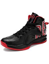 ASHION Herren Basketballschuhe Sneakers Ausbildung Outdoor Turnschuhe, 2-schwarz, 44 EU