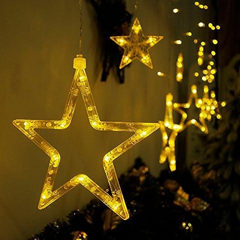 Weihnachtsschmuck LED Laternen Lichter String mit Sternen gefüllt warm wünschte den Ballraum mit romantischen Ornamenten verziert , color wishing ball lamp (Laterne Weihnachtsschmuck)
