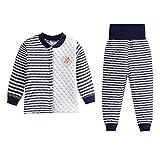 DOTBUT Kinder Zweiteiliger Schlafanzug, Junge und Mädchen Zweiteiliger Drucken Schlafanzug Langarm Pjs 100% Baumwolle 3 Schichten warm (73cm, A)