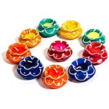Grasme Home Decorative Matki Diyas | Diwali Candles Set | Aangandeep Diya Decorate For Diwali | Diya For Puja | Diwali Home Decoration Light (Set Of 10 Matki Diya)