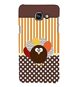 For Samsung Galaxy On5 (2016) brown polka ( brown polka, brown bird, stripes, polka ) Printed Designer Back Case Cover By FashionCops
