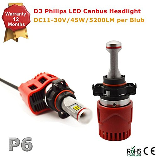 P6 LED Headlight Bulbs w/ Clear Arc-Beam Kit DC 11-30V- for sale  Delivered anywhere in UK