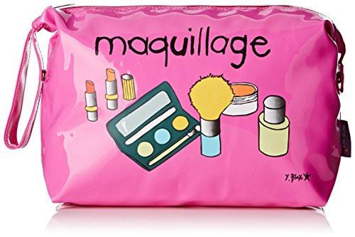 Incidence Paris Trousse Vinyle GM Maquillage, 37 cm, Rose Fuchsia