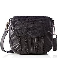 Td0045a, Womens Cross-Body Bag, Grau (Anthrazit), 8x21x24 cm (B x H T) Taschendieb