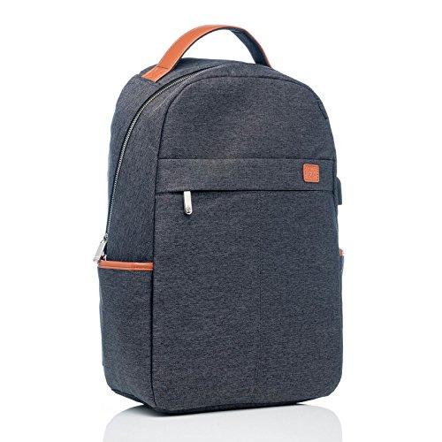 BiDZO Rucksack 20 L Notebook | Laptop Tasche für HP Envy 13 | HP Spectre x360 | HP ZBook 15 G5 | ZBook 17 G5 mit Ladefunktion über Powerbank - GRAU