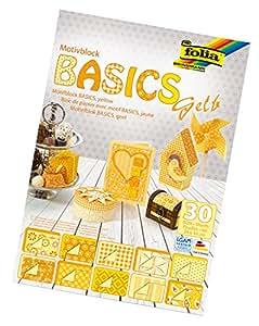 Bringmann folia 46149 - Motivblock Basics, 24 x 34 cm, 30 Blatt sortiert, gelb