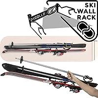 Soporte esquí guardaesquíes (100% Acero) (Blanco)