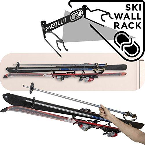 Ski halter wandhalterung (100% Stahl) (schwarz) -