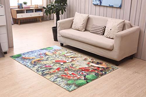 Preisvergleich Produktbild WXDD Fußmatten Schlafzimmer-Matten,  Bodenunterlagen für Zuhause,  Laufflächen,  Reismatten,  schöne Tatami,  Schlafen,  Teppichboden,  Plüsch,  alle Pflasterungen,  50 * 80 cm,  3D-Goldfisch