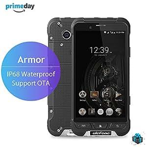 Ulefone ARMOR Smartphone Débloqué 4G IP68 Smartphone Etanche Antichoc ( 32 Go ROM - 3 Go RAM - Caméra 13MP/5MP - 4.7 Pouces HD - Octa Core - 3500mAh Batterie - Empreinte Digitale -Dual SIM- Android 6.0) - Anti-poussière Rugged Smartphone - Noir