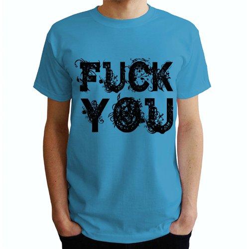Fuck you Herren T-Shirt Blau