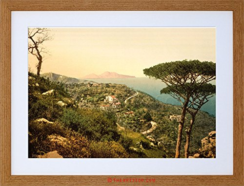VINTAGE PHOTO MOUNT SORRENTO CAPRI ISLAND ITALY FRAMED PRINT F97X7593 (Island Capri Light)