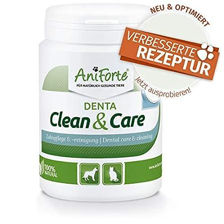 AniForte Denta Clean & Care Zahnsteinpulver für Hunde & Katzen 150g – Natürliche Zahnpflege, Mundhygiene & frischer Atem, Zahnsteinentferner & Zahnreinigung, gegen Verfärbung, Zahnbelag & Plaque