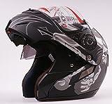 Dual Visiere matt schwarz Jet Flip Front Up Motorrad Vespa Full/Open Face Modular Helm