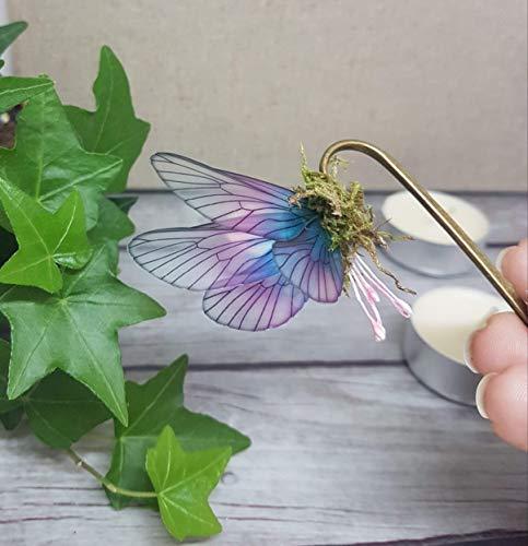 Marcapaginas original imitando alas mariposa