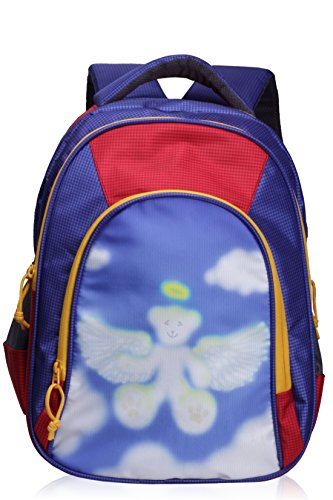F Gear Angel 15 Liter Printed Kid's Nursery School Bag (Blue Red)  available at amazon for Rs.599