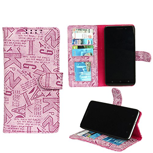 Dsas Leatherate Flip Cover For Xiaomi Redmi Note 3(ABCD-PINK)