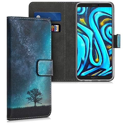 kwmobile Huawei Honor 9 Lite Hülle - Kunstleder Wallet Case für Huawei Honor 9 Lite mit Kartenfächern & Stand