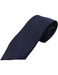 Blacksmithh Formal Navy Blue Jacquard Woven Tie