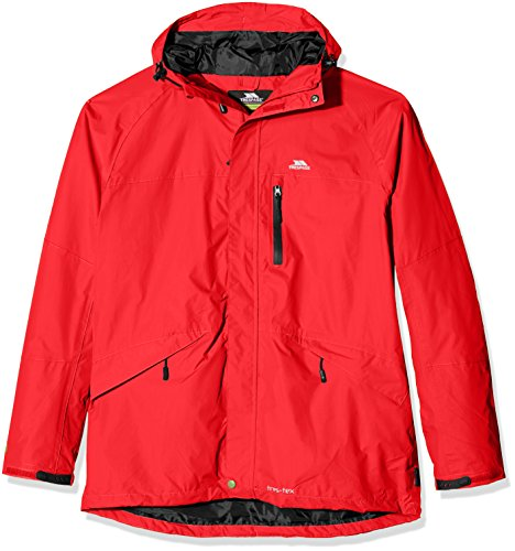 Fresh Air Hood (Trespass Herren Corvo Wasserdichte Jacke, rot (Red), XS)