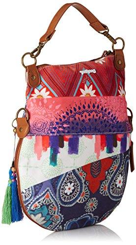 Desigual Folded Happy Bazar 61x50k03041u Damen Umhängetaschen 31x35x3 Cm (bxhxt) Marciume (borgoña Claro 3041)