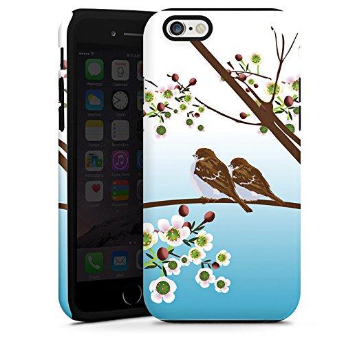 Apple iPhone 5s Housse étui coque protection Moineau Oiseaux Oiseau Cas Tough terne
