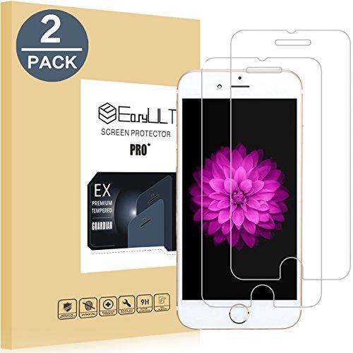 EasyULT[2 Stück Kompatibel mit Schutzfolie Displayschutzfolie Glas Folie Glasfolie Displayschutz für iPhone 6/iPhone 6S - Für Kratzer-entferner Iphone