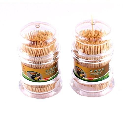 2Stk Esszimmer Plastik Schachtel Halter Aufbewahrung Spender mit Zahnstocher