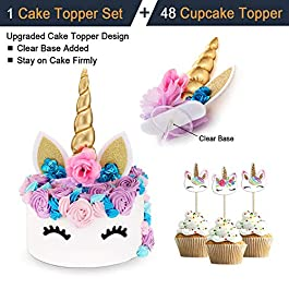 Innexfield Unicorn Cake Topper Set