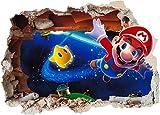 Super Mario Brothers 4Art Wand Loch bedruckt Vinyl Aufkleber Aufkleber Kinder Schlafzimmer (ss40020), Vinyl, Supersize 1200 x 855mm