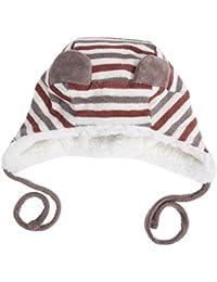 Cappello Neonato Invernale di Domybest Cappello Carino a Righe di Vello  Artificiale per Bambini fb29fd7f3b07