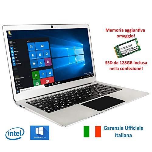 """Notebook Jumper Ezbook 3Pro Tastiera e Garanzia Italiana 13.3"""" Full HD 6GB RAM + 192GB Intel Apollo Lake N3450 Quad Core, Windows 10"""