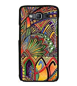Fiobs Designer Back Case Cover for Samsung Galaxy On7 G600Fy :: Samsung Galaxy Wide G600S :: Samsung Galaxy On 7 (2015) (jaipur rajasthan african america cross pattern)